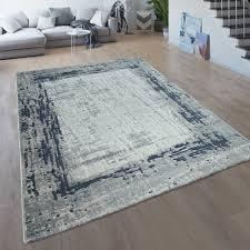 wohnzimmer teppich kurzflor moderner bordüre