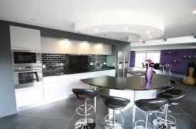 cuisine avec grand ilot central cuisine avec grand ilot central 8 cuisine arrondie en laque par