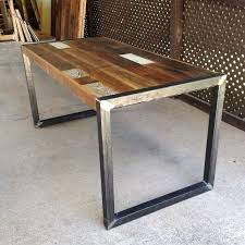 Wood And Metal Desk Rustic Wood And Metal Writing Desk Wood And