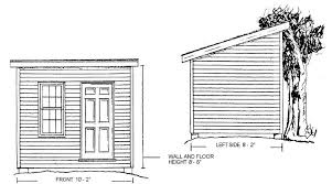 10x8 beginner storage shed plans download