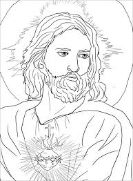 Printable Sacred Heart Of Jesus Coloring Page