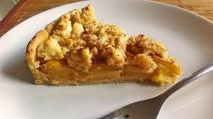 cremiger apfel pudding kuchen mit zimt