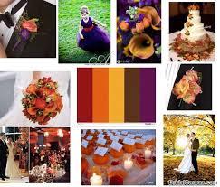 Autumn Wedding Colors Scheme 2
