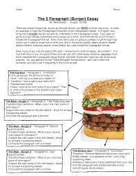 Persuasive Writing Hamburger Paragraph Template