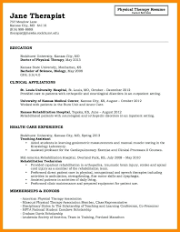 Respiratory Therapist Resume Samples Physical Resumes Therapy Sample Format Download Examples Of