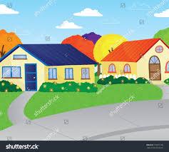 100 Houses F Vector Illustration Quiet Peaceful Suburban