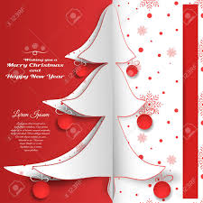 Vector Paper Art For Happy New Year And Merry Christmas Holidays
