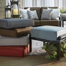 Threshold Patio Furniture Cushions by Matira Metal Outdoor Ottoman Stool With Cushion By Napa Living