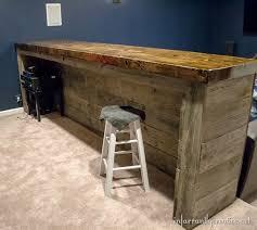 man cave wood pallet bar free diy plans pallets bar and basements