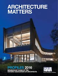 100 Lakeshore Villa Dorval ARCHiTeCTuRAl PRACTiCes Ontario Association Of Architects