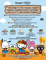 Irvine Pumpkin Patch Hours by Tanaka Farms Sanrio Pumpkin Patch With Hello Kitty U0026 Friends