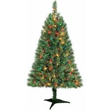 Slim Pre Lit Christmas Tree Canada by Artificial Christmas Tree Pre Lit 4 U0027 Indiana Spruce Multi Lights