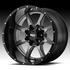 100 Moto Wheels Truck Metal MO970 Gloss Gray Black Custom Rims Metal