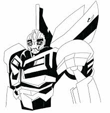 Transformers Bumblebee Coloring Pages Kids Pictures Animated Transformer To Print Full Size