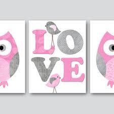 Kids Wall Art Owl Nursery Owl decor Baby from artbynataera on