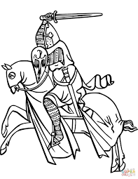 Click The Knight On Horse Coloring Pages To View Printable Version Or Color It Online Compatible With IPad And Android Tablets