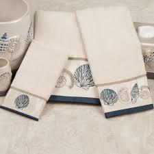 Decorative Towel Sets Bathroom by Seashell Towel Sets Home Coral Beach Bath Towel Set Ivory Bath