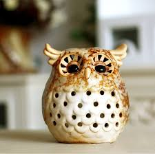 Fine ceramic Owl European country style for decoration with