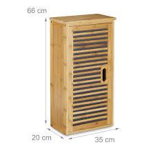badezimmer hängeschrank bambus 2 ablagen