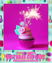 Surprise your best friend with our fancy Pink Paris Birthday Cupcake dark chocolate fudge cupcake topped with raspberry frosting edible glitter and a