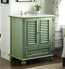 30 inch bathroom vanity louvered shutter doors style vintage green