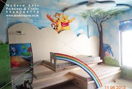 Elegant Painting Artist In Mumbai Children Bedroom Wall With D
