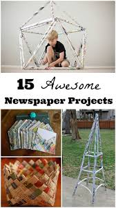 Creative Engineering Challenges Craft Build With Newspapers