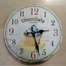 wanduhr uhr cupcake chocolate 30 cm küche esszimmer