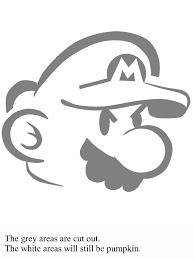 Mario Pumpkin Carving Templates by Mario Bross Pattern Pumpkin Carving For Halloween Diy
