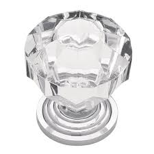 liberty 1 1 4 in chrome with clear faceted acrylic cabinet knob