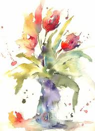 Simple Loose Watercolour Tulips With Andrew Geeson