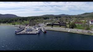 100 Million Dollar Beach Adirondack Aerial Video Of Lake George Village Pier