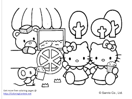 Adult Fine Decoration Free Coloring Book Hello Kitty