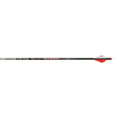 Carbon Express 50690 Maxima Hunter Fletched BuffTuff Carbon Arrows - Mossy Oak Treestand Pattern, Size 250, x6, with Blazer Vanes