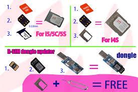 The operating Steps of R SIM Mini2 unlock iOS7 1 7 X 5 5C 5S R
