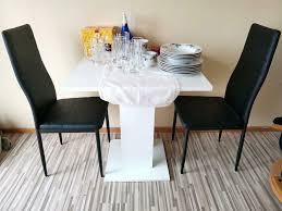 weiss kleine esszimmer tisch mit 2 stühle