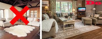 standard of living room area rug size rug size for living room