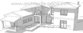 plan de maison moderne 4 pièces villad architecte 117 villa semi
