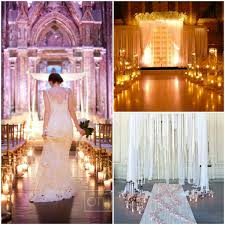 Candles Wedding Ceremony Aisle Decorations