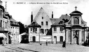 bureau d olier ancien en bois 1 place l hôpital militaire de maubeuge août 1914 mars 1915