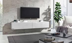 wuun tv board hängend 8 größen 5 farben 280cm matt weiß weiß hochglanz lowboard hängeschrank hängeboard wohnwand hochglanz naturtöne somero