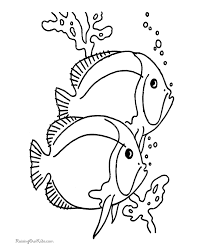 Fish Coloring Book Page