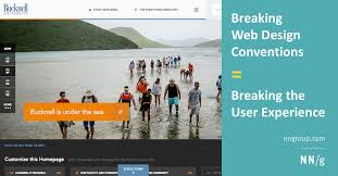 Breaking Web Design Conventions = Breaking the User Experience