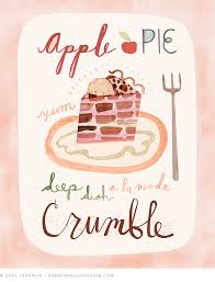 apple pie illustration sara franklin desserts food illustration illustrator