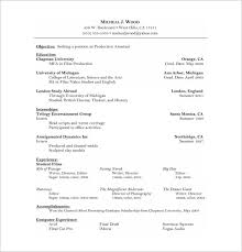 No Experience Acting Resume PDF Download