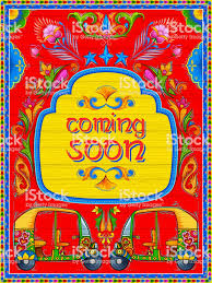 Colorful Coming Soon Banner In Truck Art Kitsch Style Of India Stock ... Truck Art Project 100 Trucks As Canvases Artworks On The Road Pakistan Stock Photos Images Mugs Pakisn Special Muggaycom Simran Monga Art Wedding Cardframe Behance The Indian Truck Tradition Inside Cnn Travel Pakistani Seamless Pattern Indian Vector Image Painted Lantern Vibrant Pimped Up Rides Media India Group Incredible Background In Style Floral Folk
