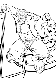 Hulk Jumps Coloring Pages For Kids Printable Free Coloring Pages