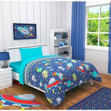 idea nuova outer space 3 piece toddler bedding set with bonus