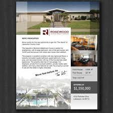 real estate flyer for luxury home wettbewerb in der