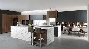 küche holz und marmor mit insel schmidt